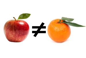 Apples vs Oranges